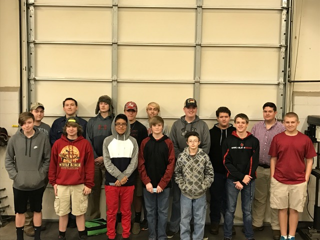 East Wilkes High Students receiving OSHA Safety Certifications
