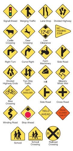 road signs for drivers test missouri